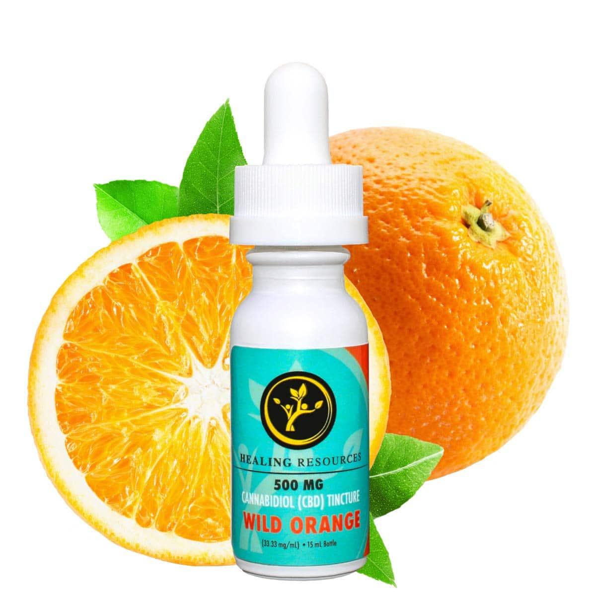 CBD Oil THC Free Tincture Wild Orange